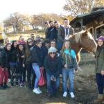 Exkurze se studenty ATEI na ranch