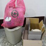 Takhle vypadá taška na odpad s ochranou známkou.